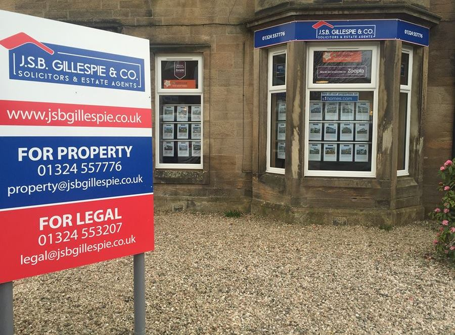 J.S.B. Gillespie & Co. Solicitors & Estate Agents - Larbert, Stirlingshire FK5 3JP - 01324 557776 | ShowMeLocal.com