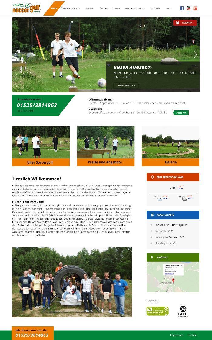 Soccergolf Sachsen Ottendorf Okrilla Am Wachberg 31