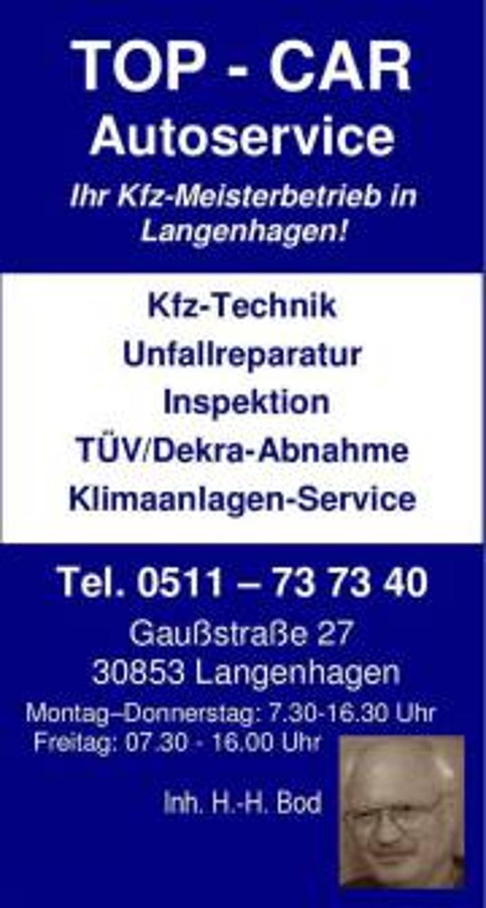 Bild zu TOP-CAR Autoservice Inh. H.-H. Bod in Langenhagen