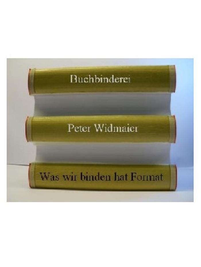 Bild zu Peter Widmaier, Buchbinderei in Stuttgart