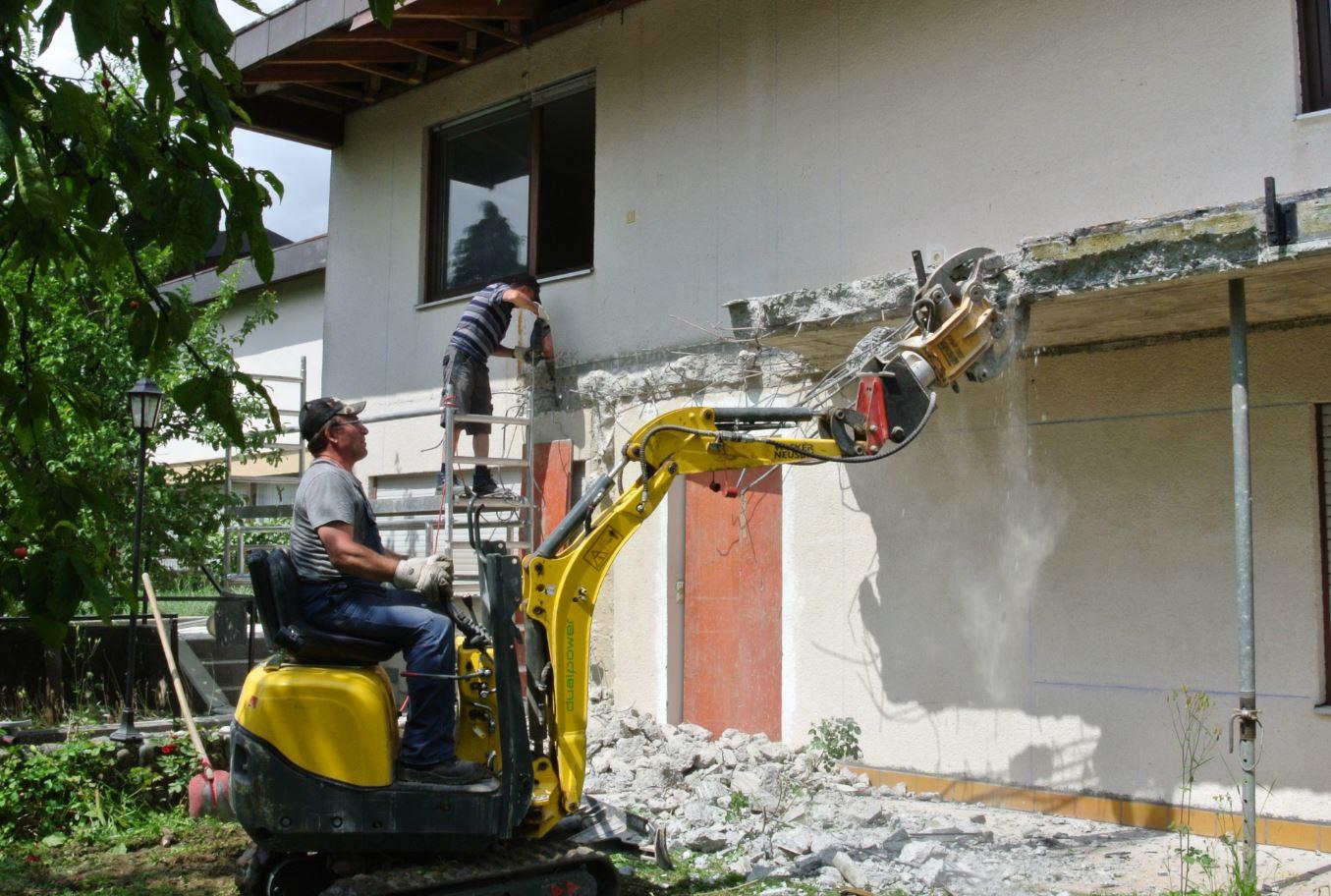 Krausse Gebäude-Entkernung