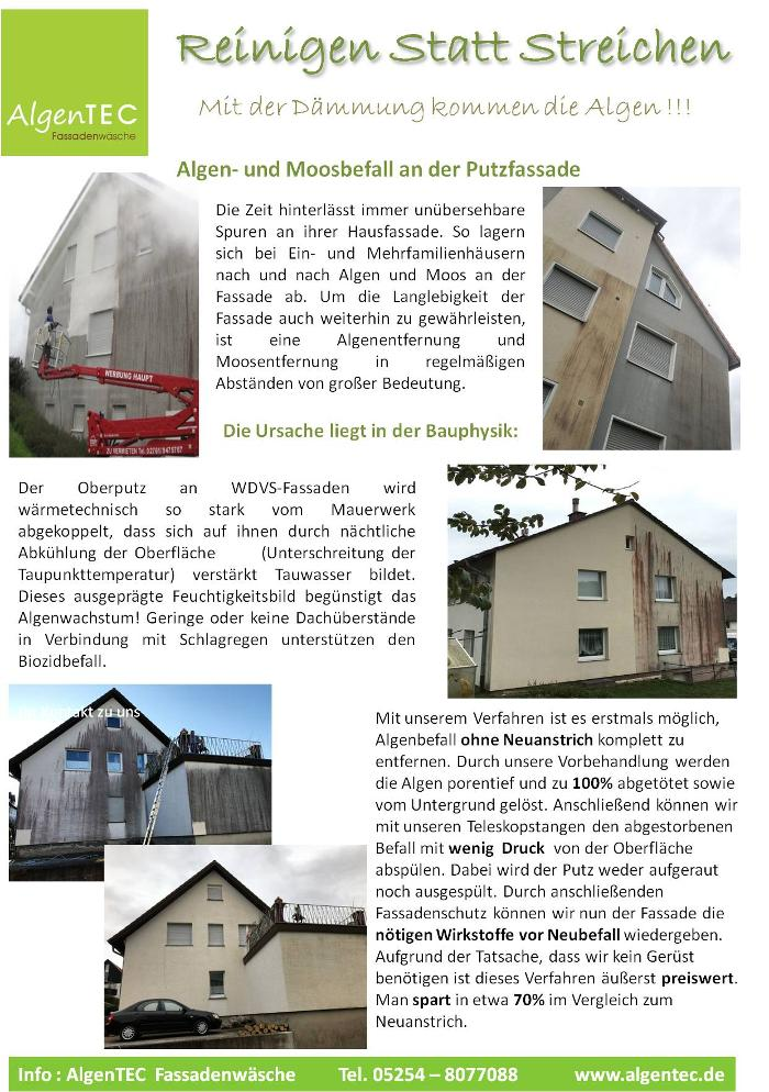 Bild zu AlgenTEC Fassadenwäsche in Paderborn