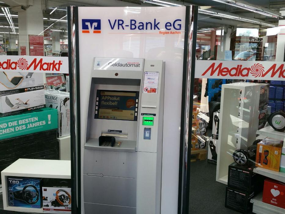 VR-Bank eG - Region Aachen, Geldautomat im Media Markt, Voccartstraße in Herzogenrath