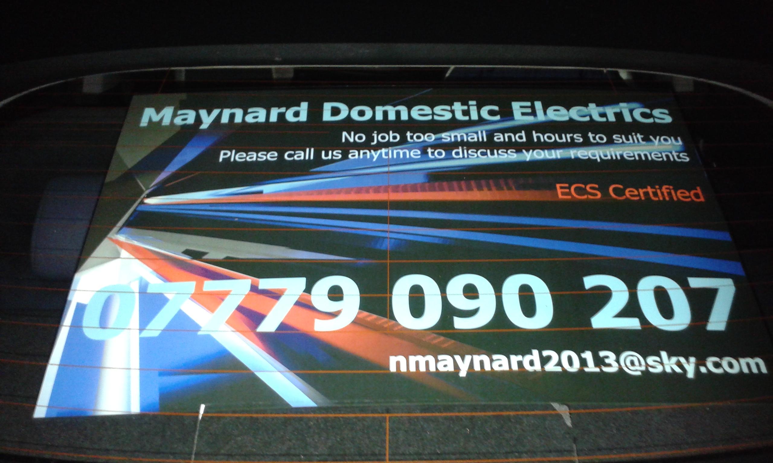 Maynard's Electrics - Chorley, Lancashire PR6 7UA - 01772 384876 | ShowMeLocal.com