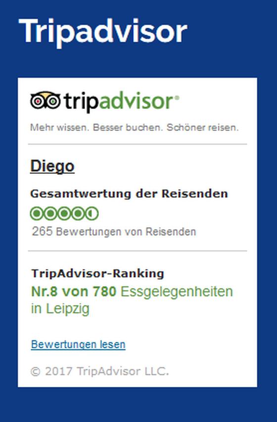 Diego Restaurant & Bar in Leipzig - Branchenbuch Deutschland
