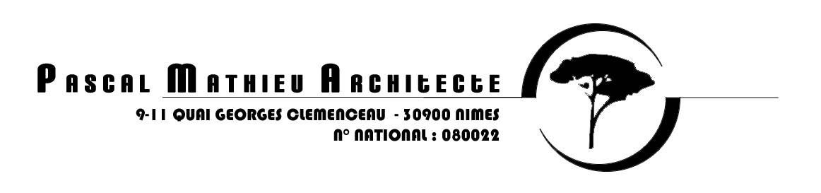 PASCAL MATHIEU ARCHITECTE