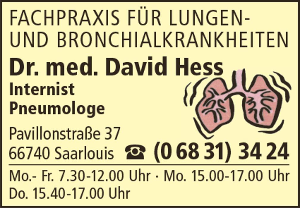 Bild zu Hess David Dr. med. in Saarlouis
