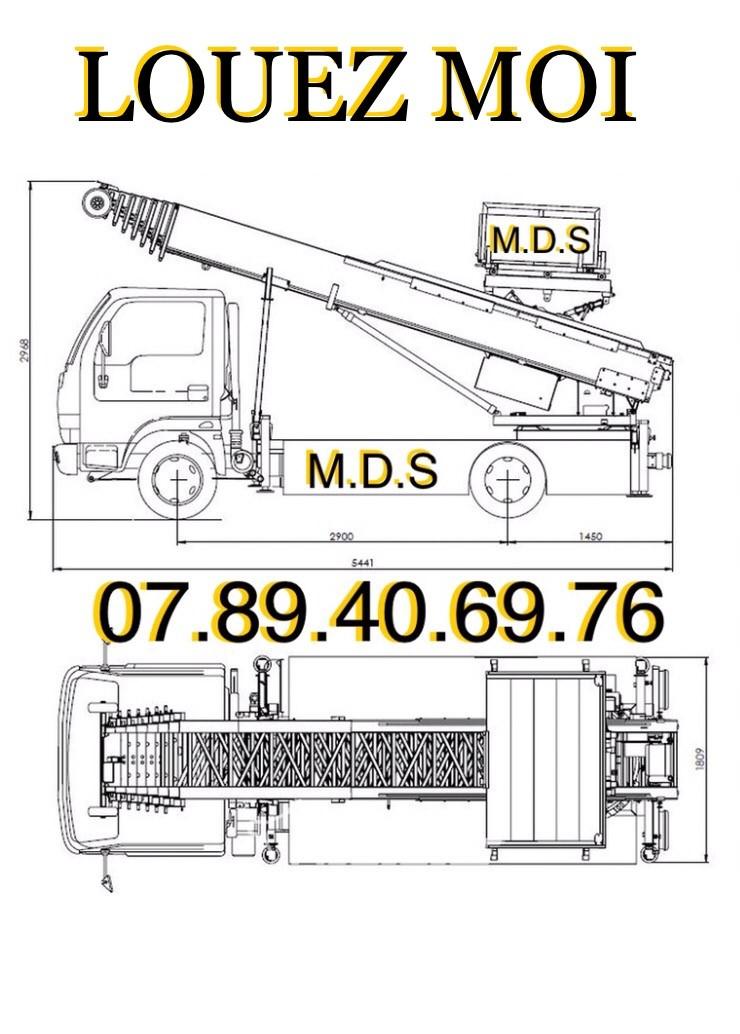 Location monte meuble location Monte Matériaux M.D.S levages