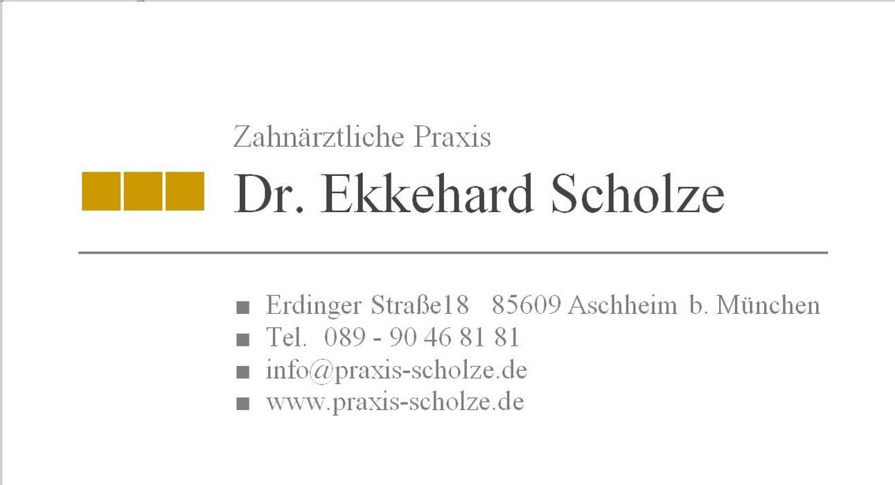 Bild zu Dr. Ekkehard Scholze zahnärztliche Praxis in Aschheim