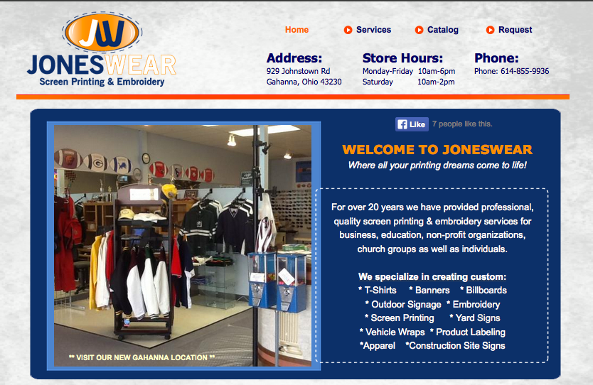 Jones wear Screen Printing and Embroidery