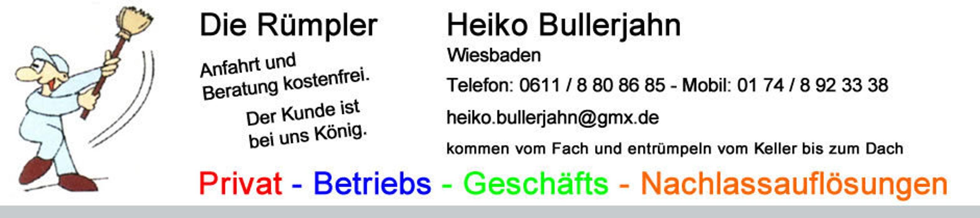 Bild zu Heiko Bullerjahn DIe Rümpler GbR in Wiesbaden