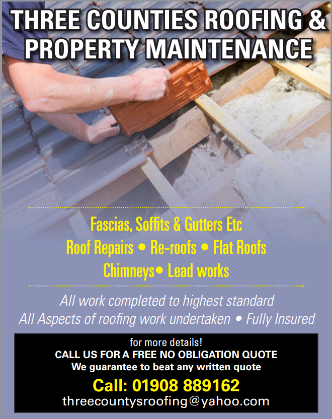 Three Counties Roofing & Maintenance - Iver, Buckinghamshire LU7 9JH - 01908 889162 | ShowMeLocal.com