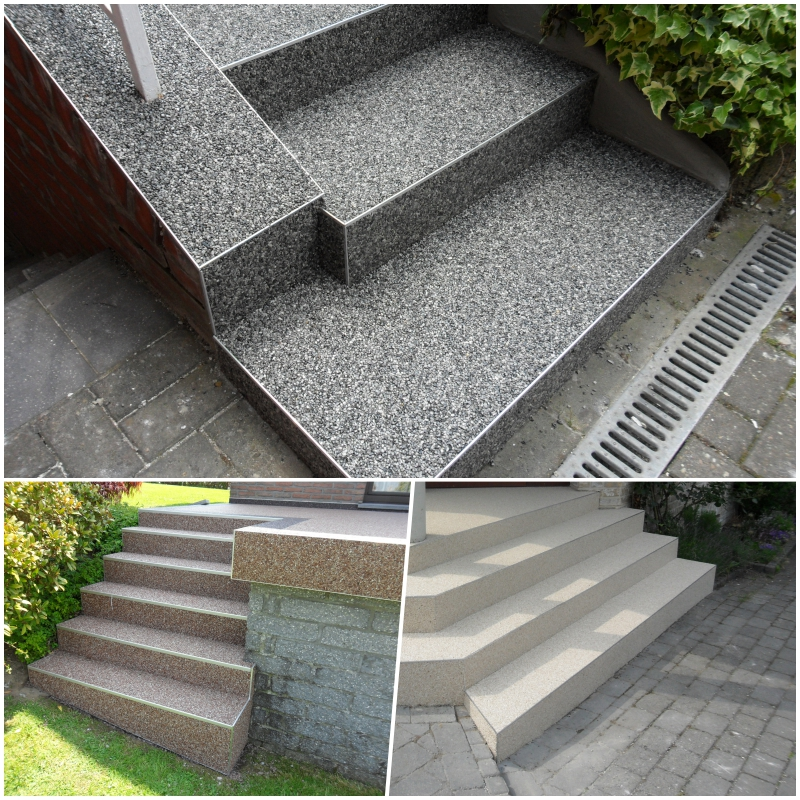 Steinteppich Treppe Erfahrung