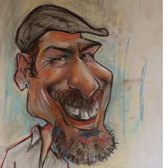 Bild zu Karikaturist Rafik Said in Berlin