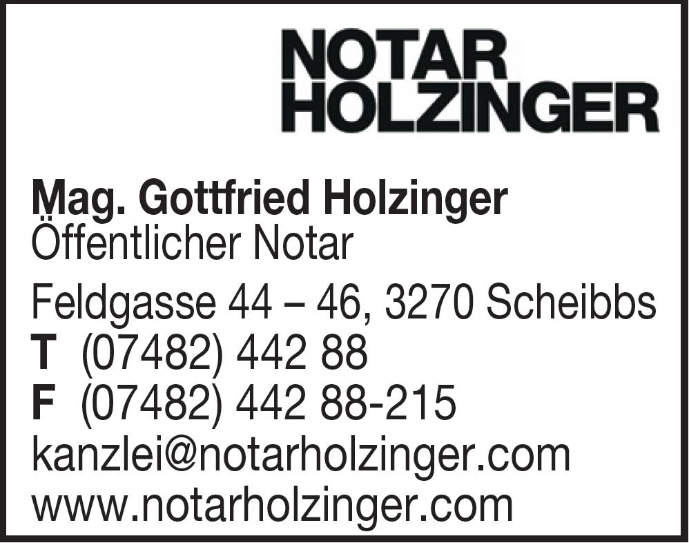 Holzinger Gottfried Mag. öffentlicher Notar
