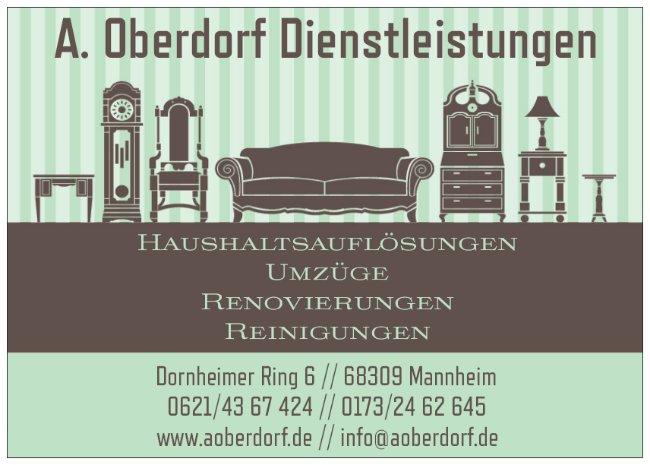 A. Oberdorf Dienstleistungen Haushaltsauflösungen Umzüge Renovierungen Reinigungen