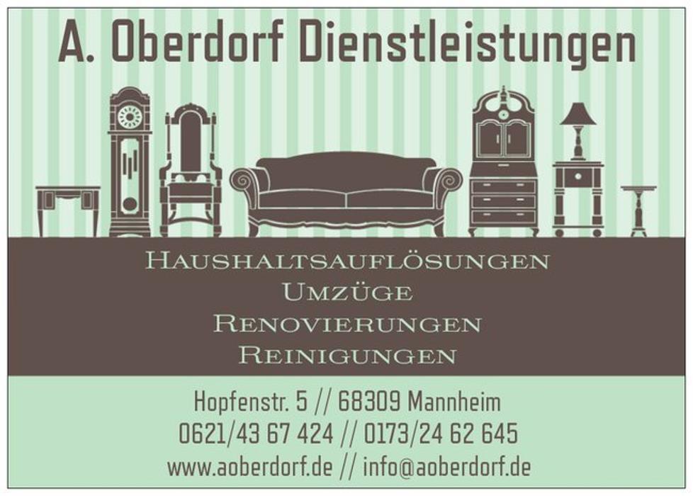Bild zu A. Oberdorf Dienstleistungen Haushaltsauflösungen Umzüge Renovierungen Reinigungen in Mannheim