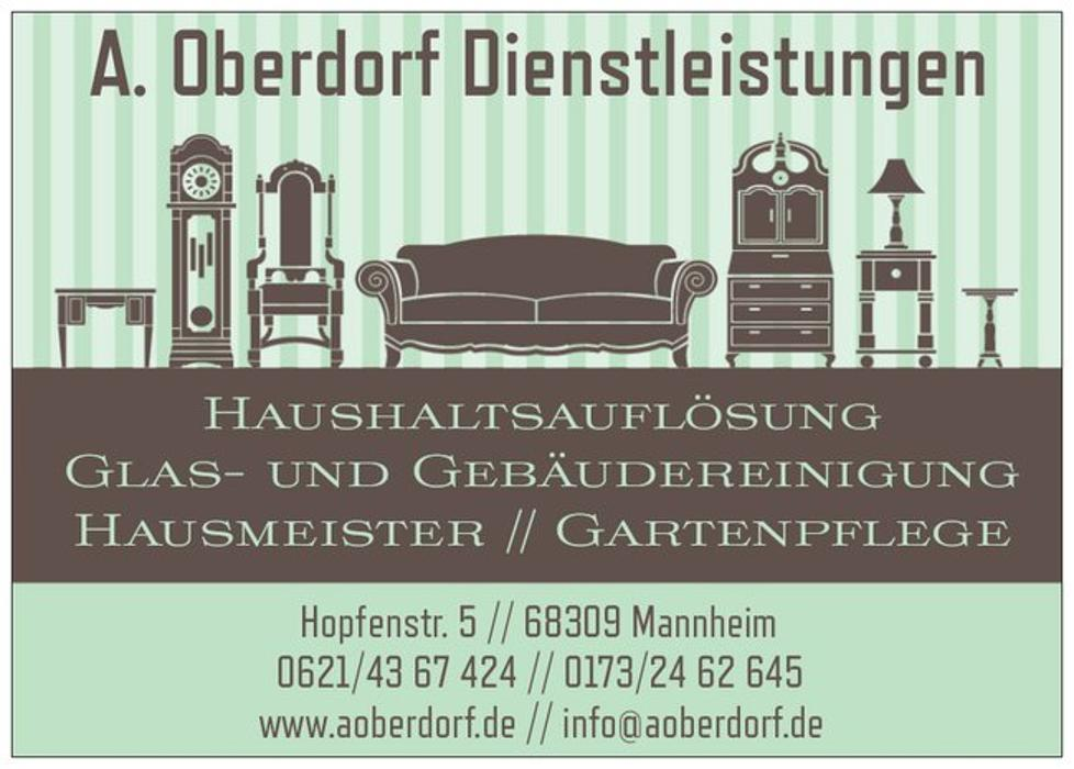 Bild zu A. Oberdorf Dienstleistungen Haushaltsauflösung - Entrümpelung - Glas- und Gebäudereinigung - Hausmeisterservice - Gartenpflege in Mannheim