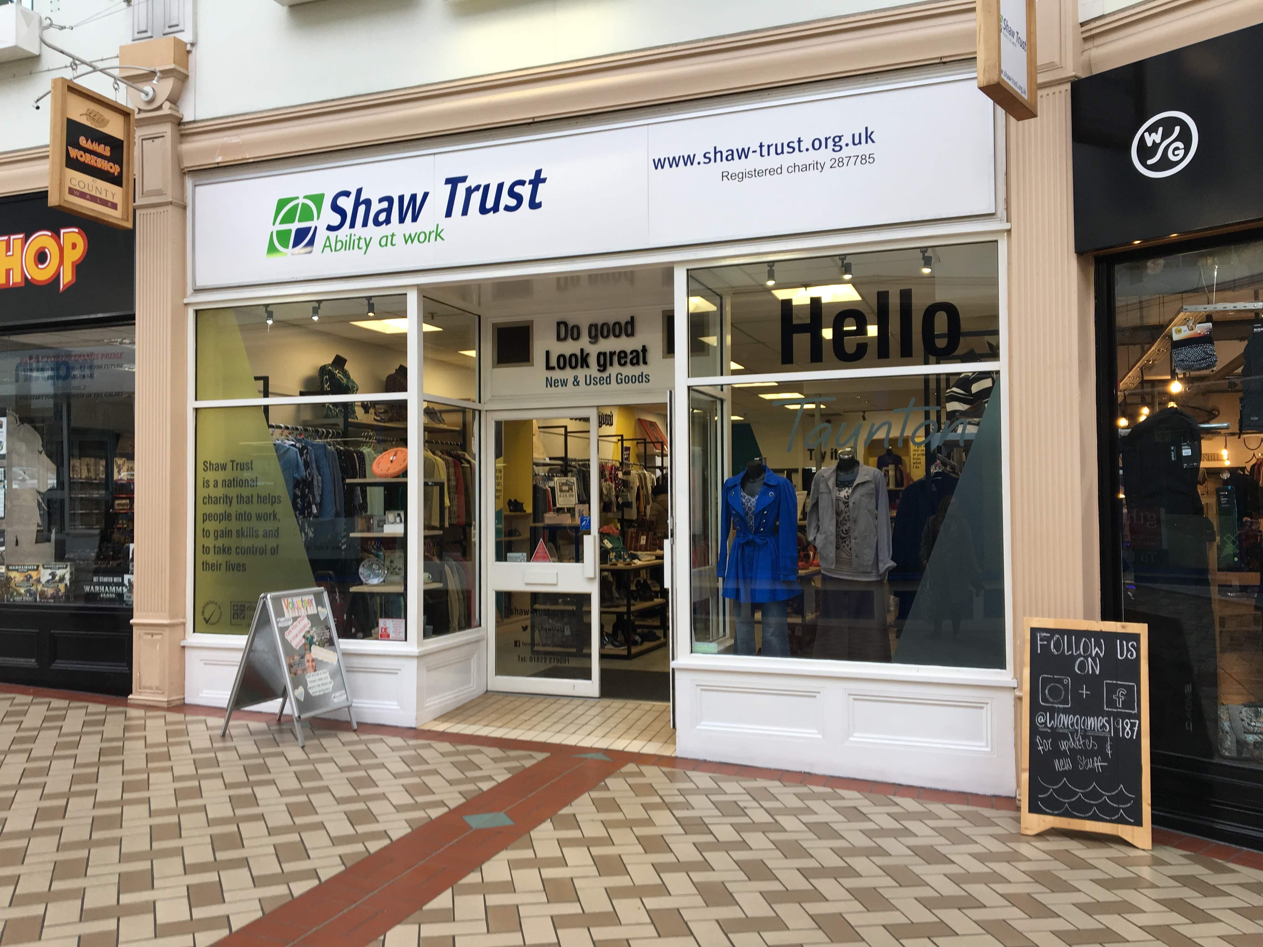 Shaw Trust - Charity shop - Taunton - Taunton, Somerset TA1 3TZ - 01823 279091 | ShowMeLocal.com