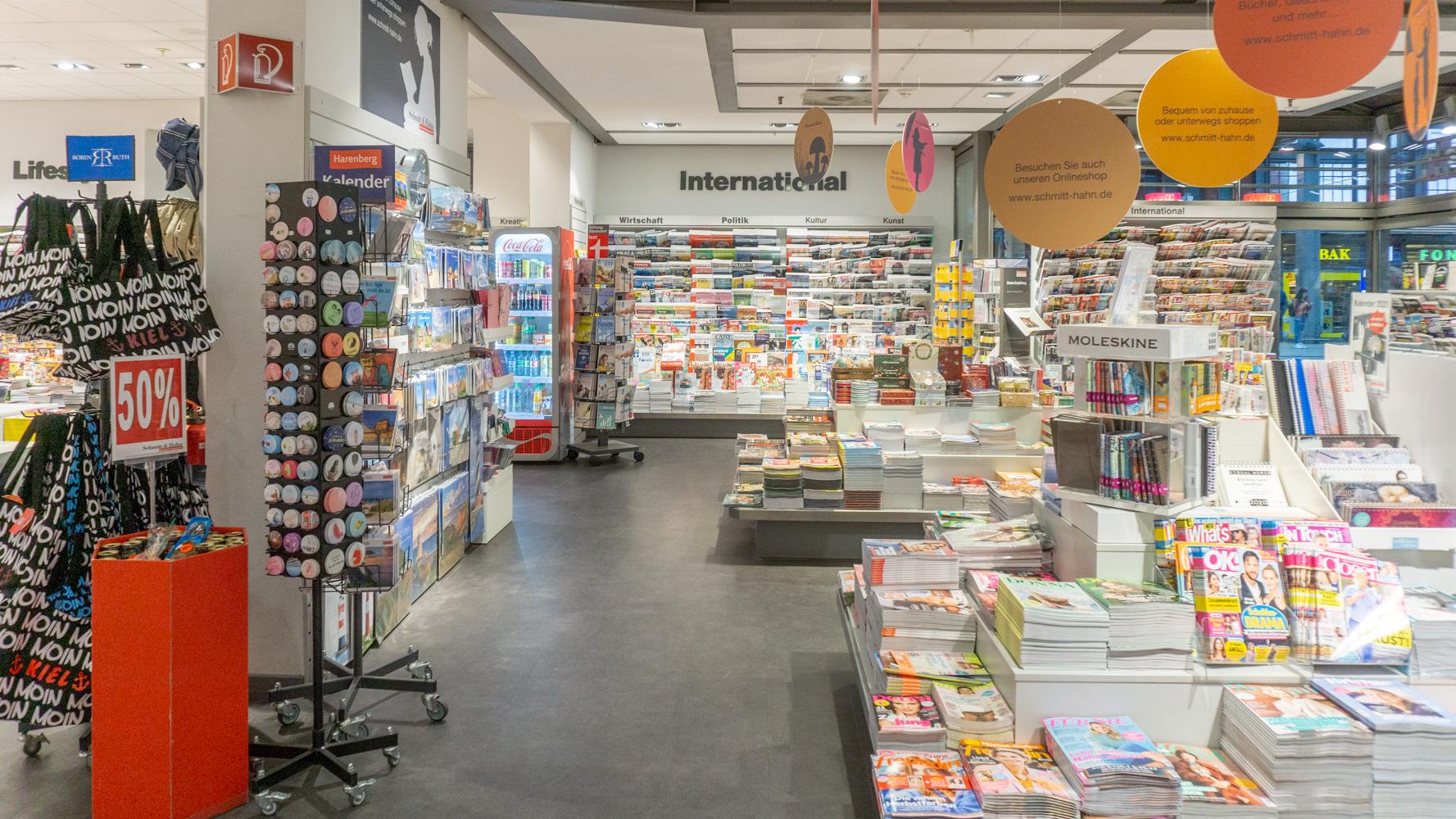 Schmitt & Hahn Buch und Presse im Bahnhof Kiel
