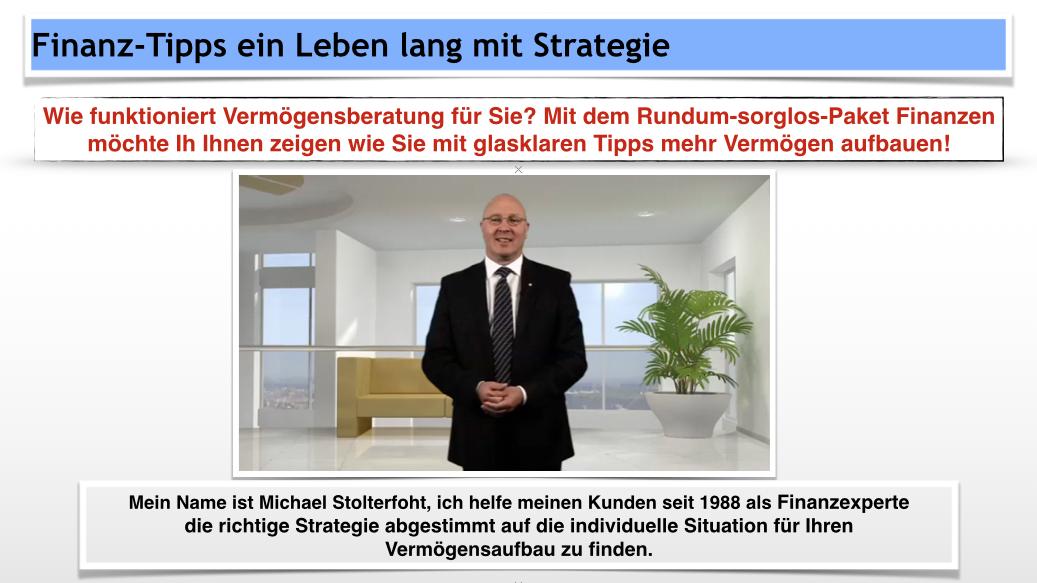 Michael Stolterfoht Baufinanzierung Tipps & Finanzexperte