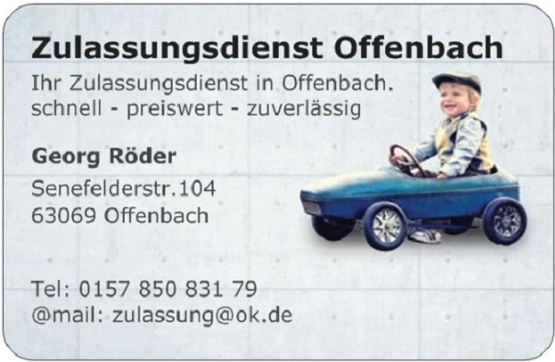 Bild zu KFZ Zulassungsdienst Offenbach Röder in Offenbach am Main