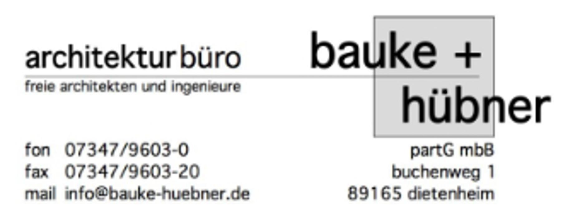 Bild zu Architekturbüro Bauke + Hübner PartGmbB in Dietenheim