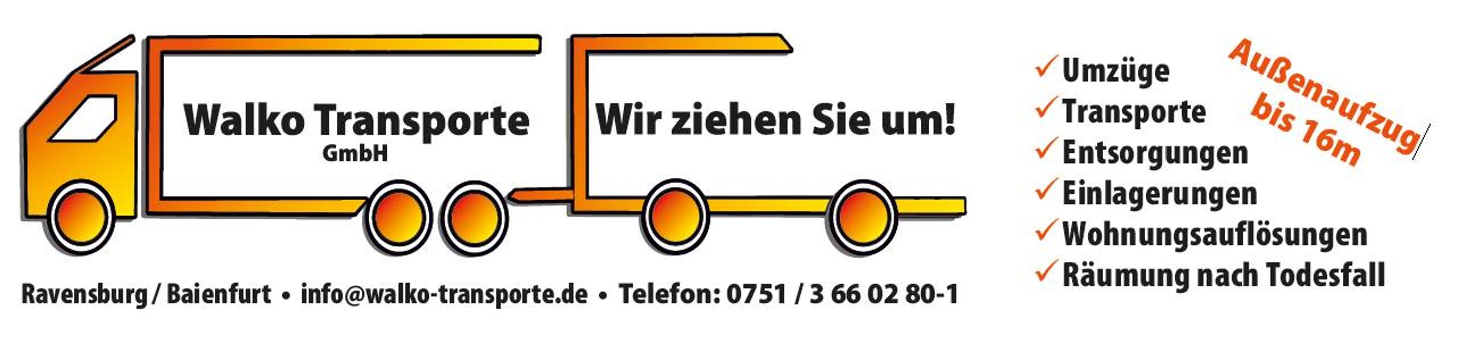 Bild zu Walko Transporte GmbH in Baienfurt