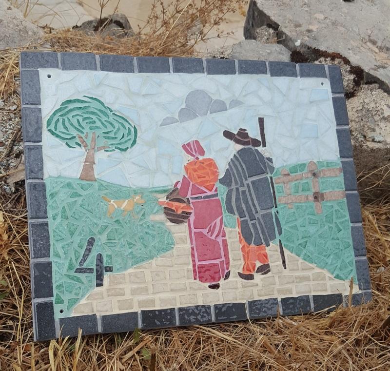 Mosaique d'art sculpteur Gesvres Nadege