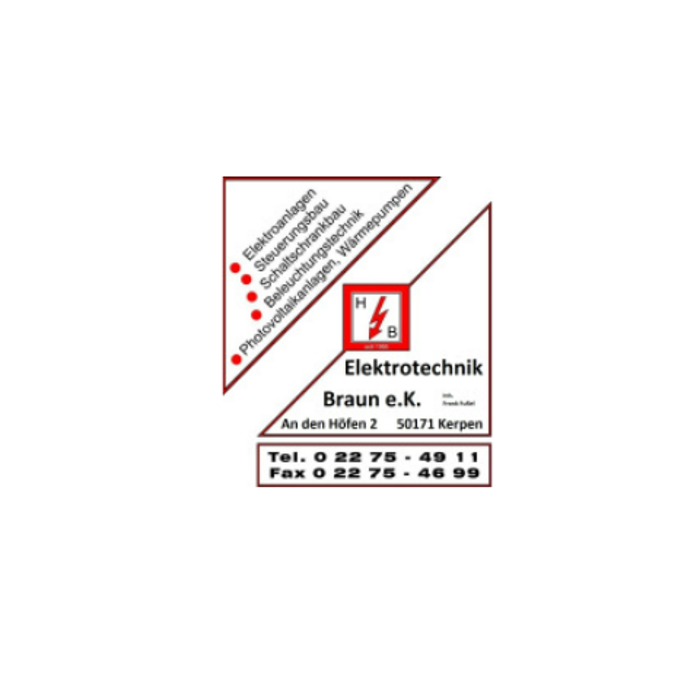 Bild zu Elektrotechnik Braun e. K. in Kerpen im Rheinland
