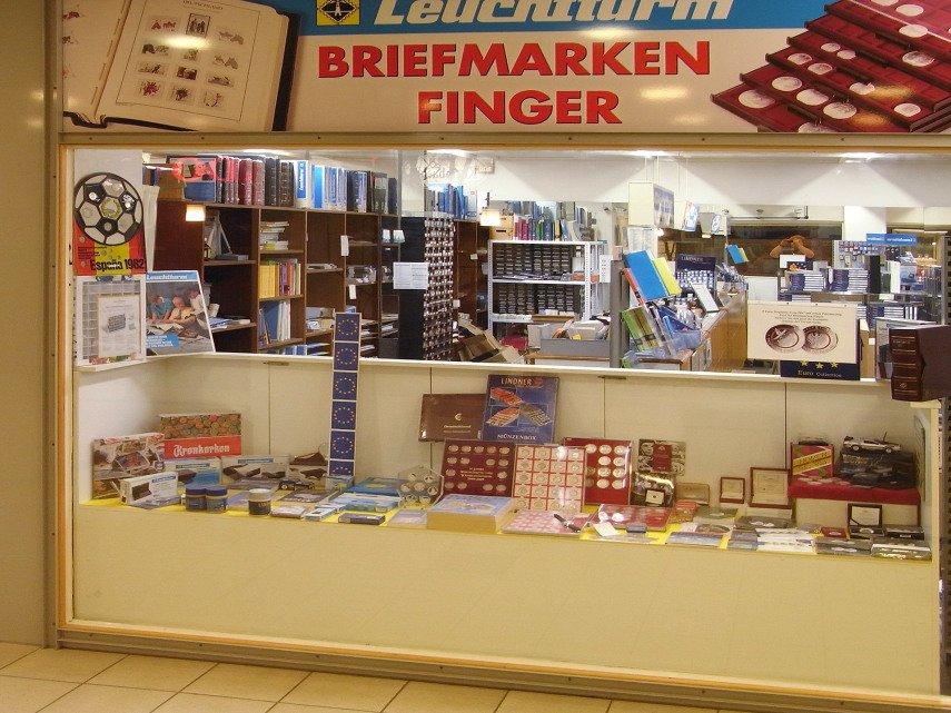 Briefmarken Finger