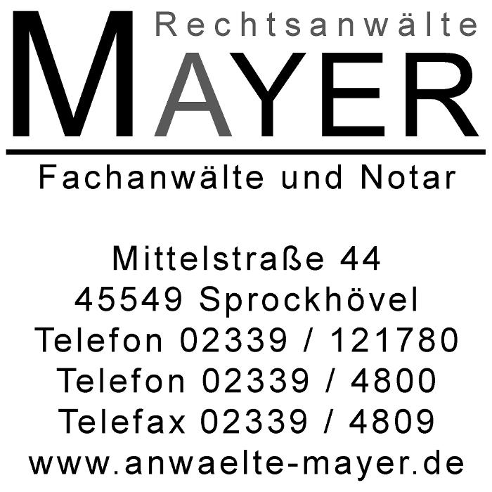 Bild zu Rechtsanwälte MAYER GbR - Fachanwälte und Notar in Sprockhövel