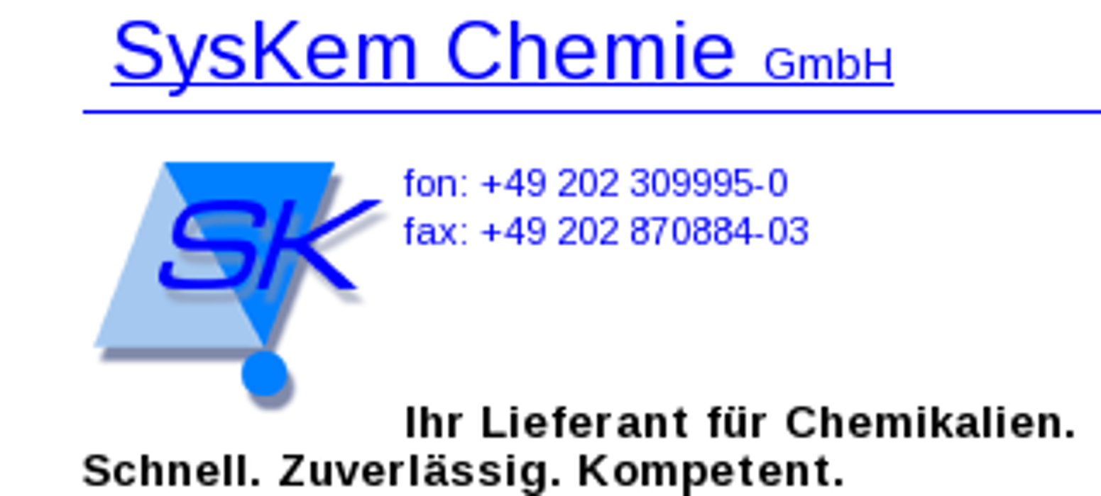 Bild zu SysKem Chemie GmbH in Wuppertal