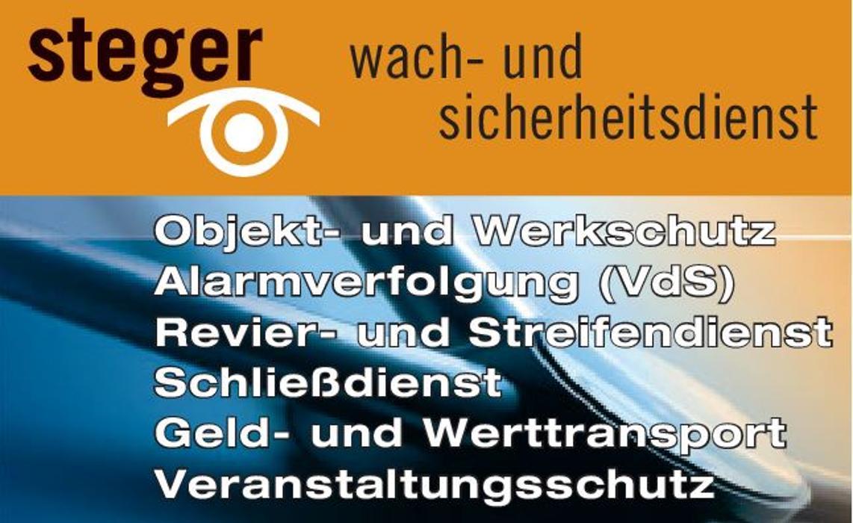 Bild zu Sicherheitsdienst Steger Wach- und Schließgesellschaft mbH in Augsburg