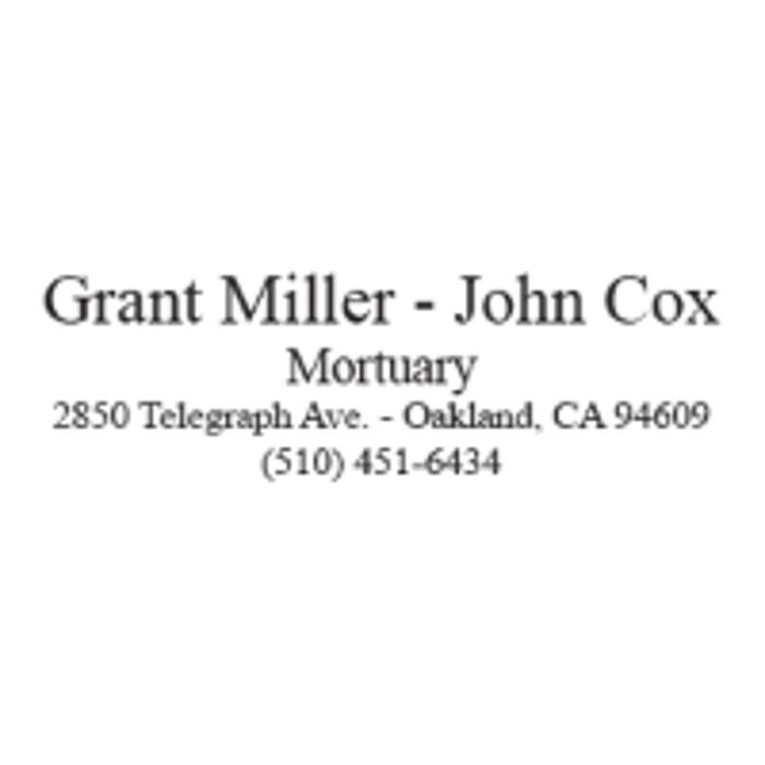 Grant Miller-John Cox Mortuary - Oakland, CA