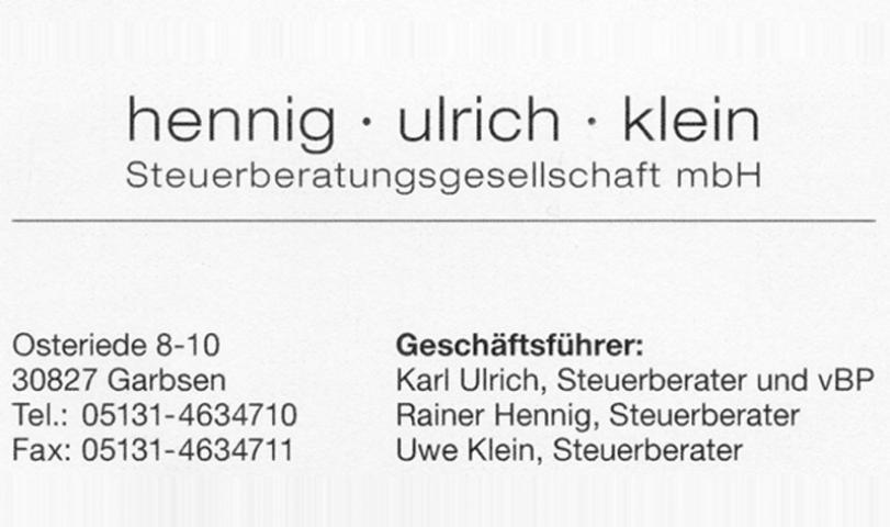 Hennig-Ulrich-Klein Steuerberatungsgesellschaft mbH