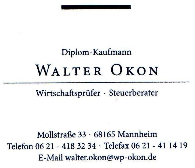 Walter Okon Wirtschaftsprüfer, Steuerberater Mannheim