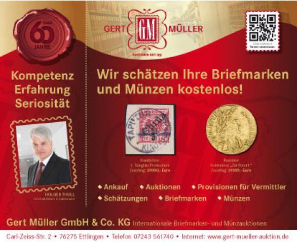 Gert Müller GmbH Internationale Briefmarken- und Münzauktionen
