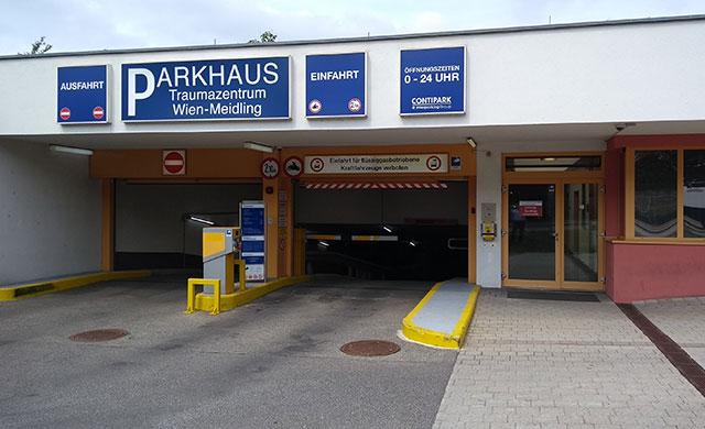 CONTIPARK Tiefgarage Traumazentrum Wien-Meidling