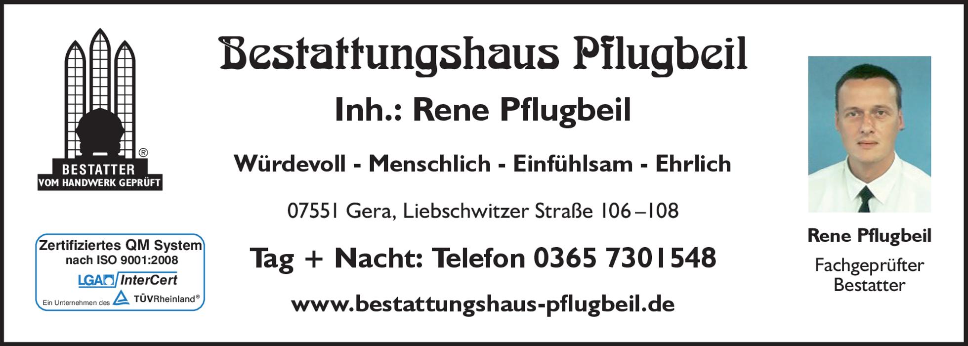 Bild zu Bestattungshaus Pflugbeil in Gera