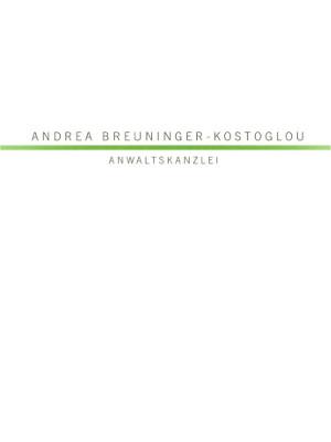 Rechtsanwältin Andrea Breuninger-Kostoglou