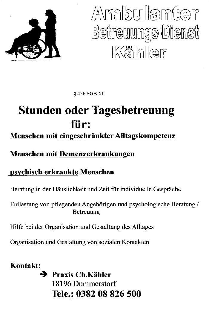 Bild zu Sozial-med.-Dienst C/K in Dummerstorf