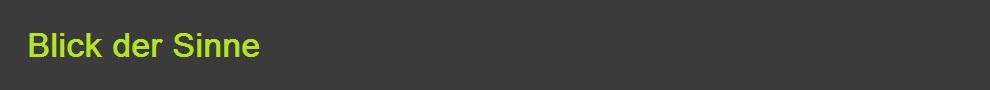 Logo von Blick der Sinne