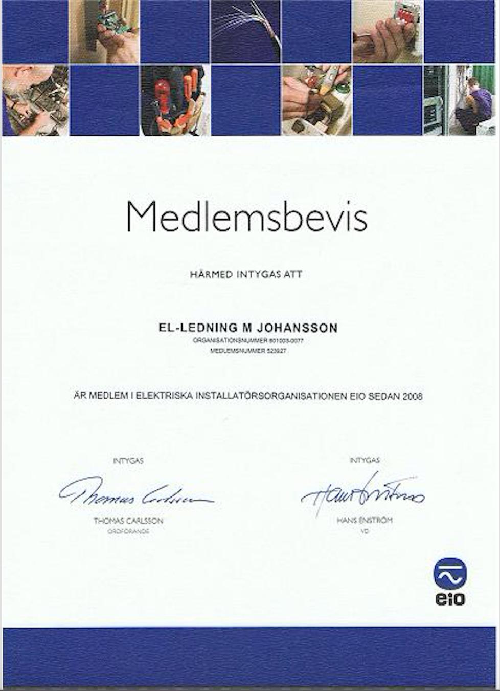 EL-Ledning M.Johansson