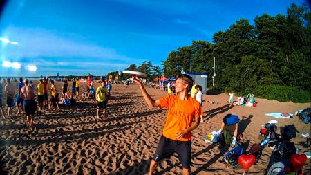 Леонид Туманов на турнире Beach Games 2015