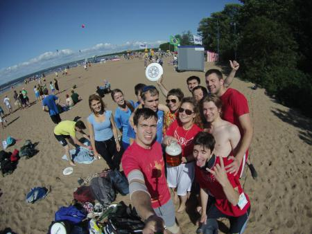 Павел Дмитриев на турнире Beach Games 2015