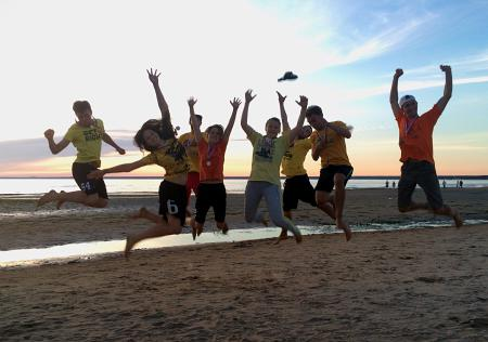 Анастасия Бутина на турнире Beach Games 2015