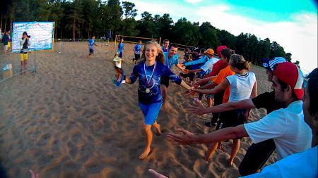 Юлия Акрамова на турнире Beach Games 2015