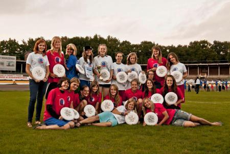 Команда CZE натурнире EYUC 2011 (Under 20 Women, 6/9)