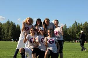 Команда Cosmic Girls натурнире 2й этап Финской Лиги 2012 (ЖД, 1/9)